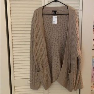 NWT Oversized cardigan.